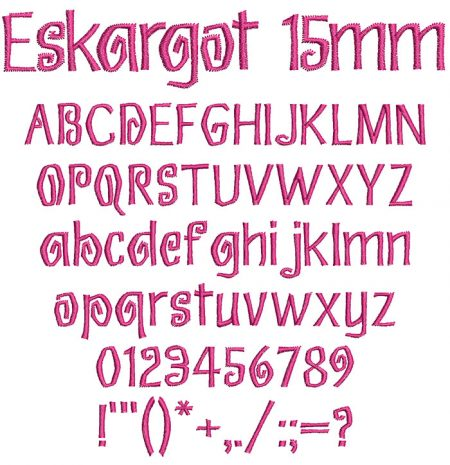 Eskargot 15mm Font