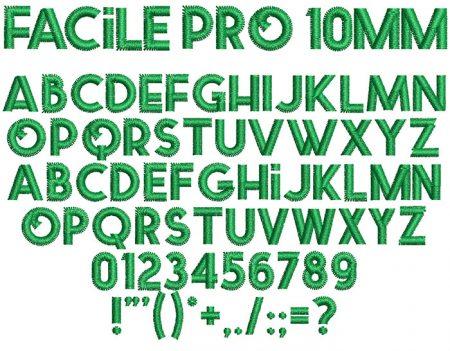 Facile Pro 10mm Font