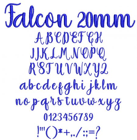 Falcon 20mm Font