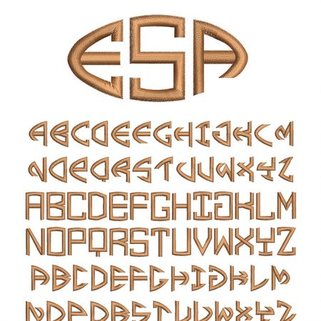 Football Monogram 30mm Font