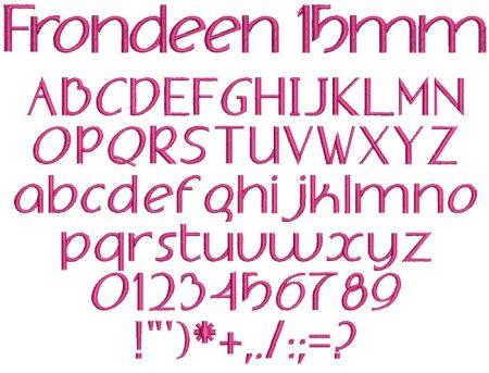 Frondeen 15mm Font