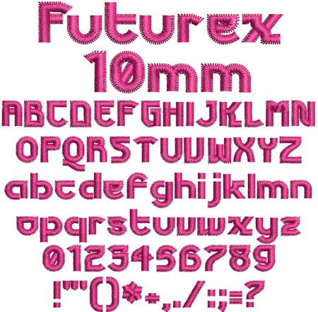 Futurex 10mm Font