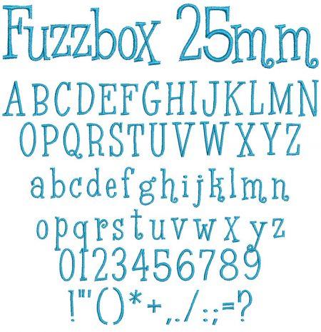 Fuzzbox 25mm Font