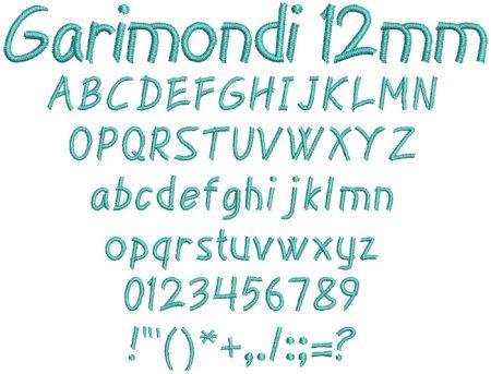 Garimondi 12mm Font