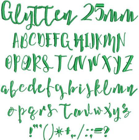 Glytten 25mm Font