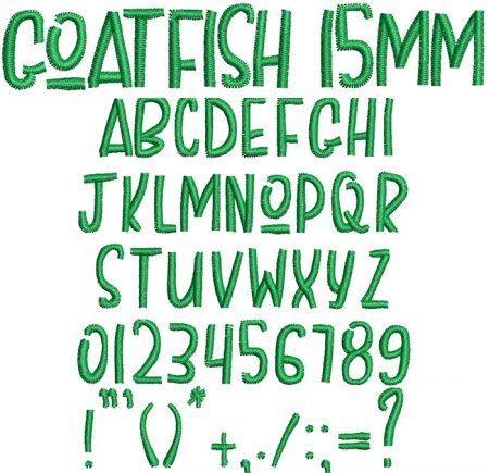 Goatfish 15mm Font