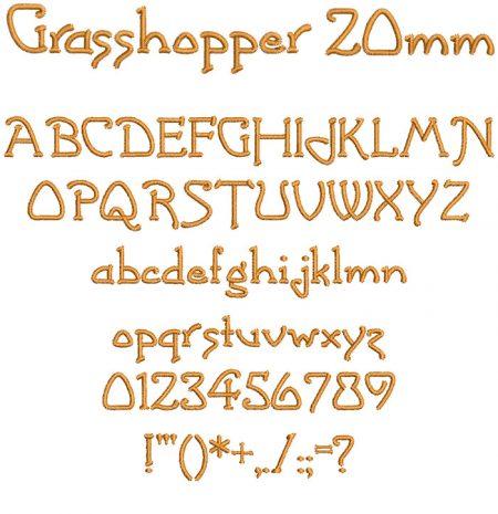 Grasshopper 20mm Font