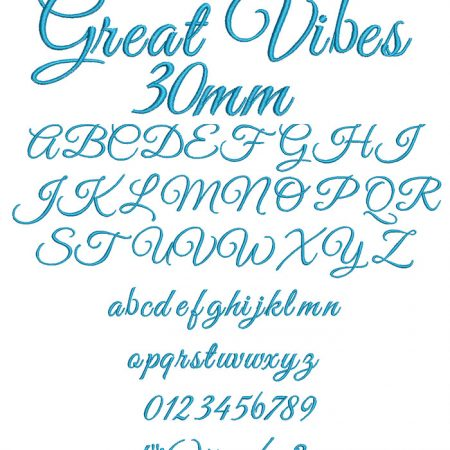 Great Vibes 30mm Font