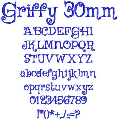 Griffy 30mm Font