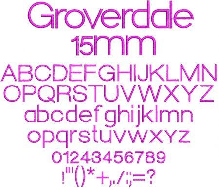 Groverdale 15mm Font