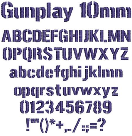 Gunplay 10mm Font
