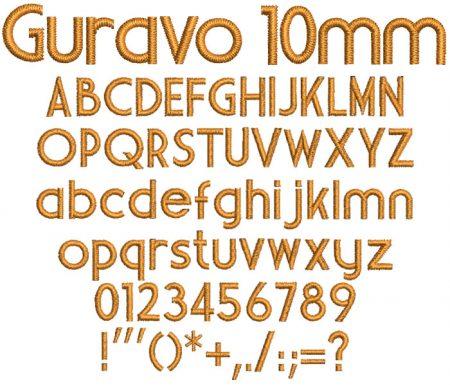 Guravo 10mm Font