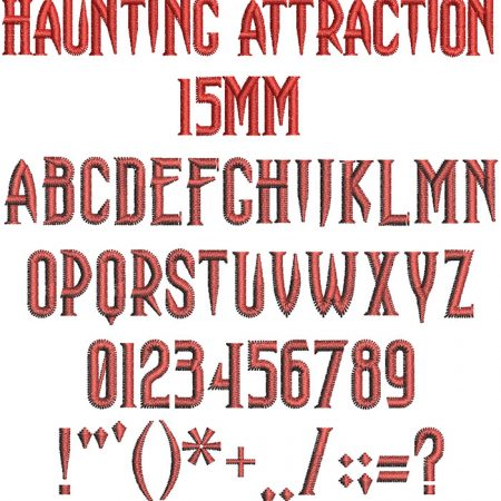 Haunting Attraction 15mm Font