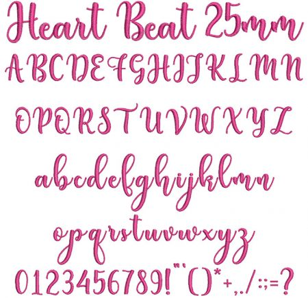 Heart Beat 25mm Font