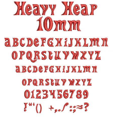 Heavy Heap 10mm Font