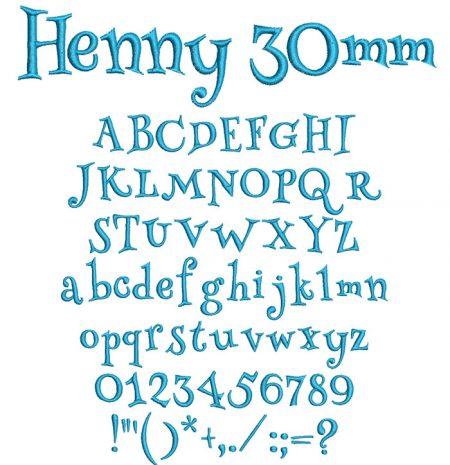 Henny 30mm Font