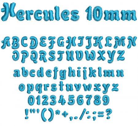 Hercules 10mm Font