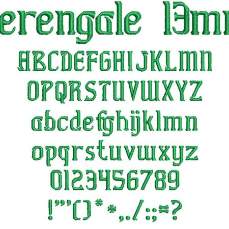 Herengale 13mm Font