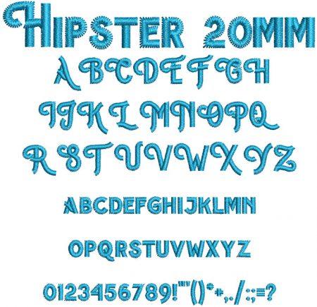 Hipster 20mm Font