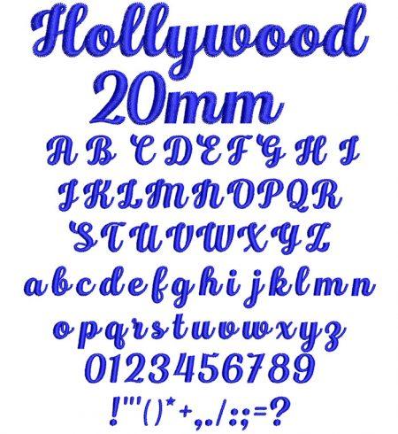 Hollywood 20mm Font