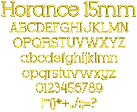 Horance 15mm Font