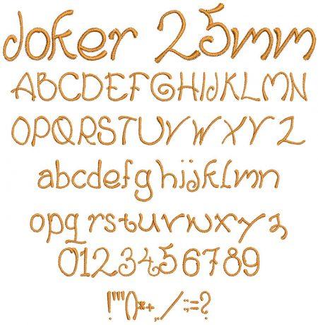 Joker 25mm Font