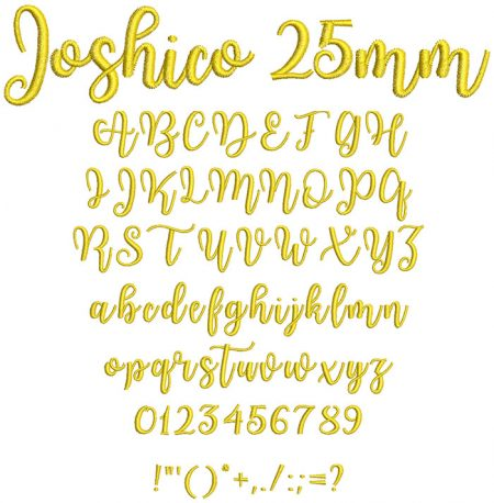 Joshico 25mm Font