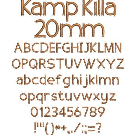 Kamp Killa 20mm Font