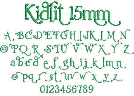Kidlit 15mm Font