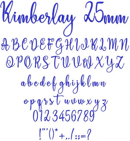 Kimberlay 25mm Font