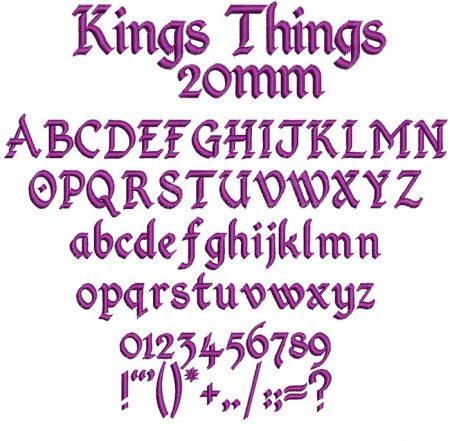 King Things 20mm Font
