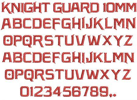 Knight Guard 10mm Font