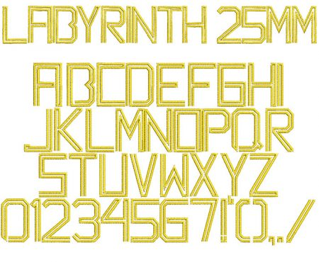 Labyrinth 25mm Font