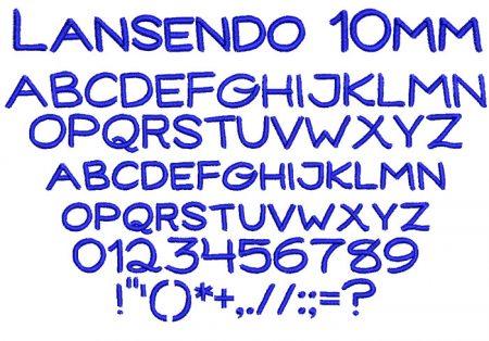 Lansendo 10mm Font