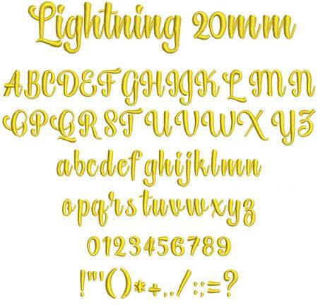 Lightning 20mm Font