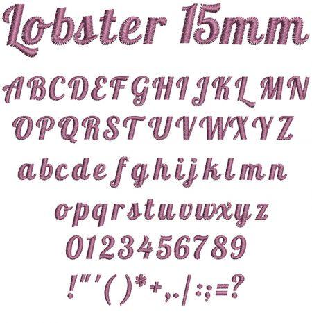 Lobster 15mm Font
