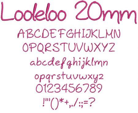 Looleloo 20mm Font