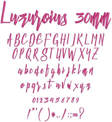 Luzurious 30mm Font