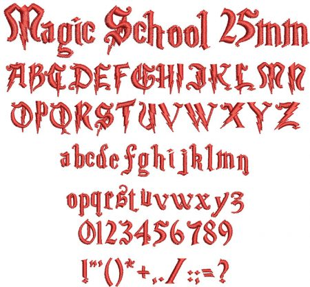 Magic School 25mm Font