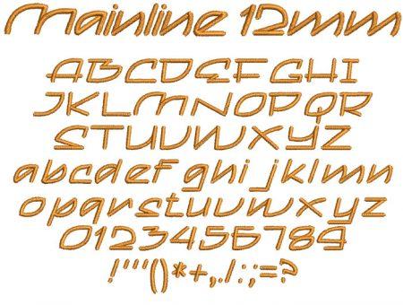 Mainline 12mm Font