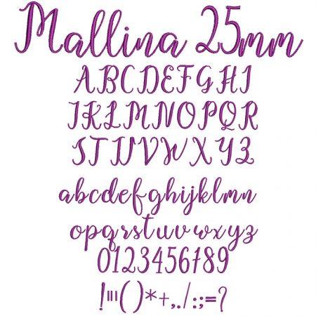 Mallina 25mm Font