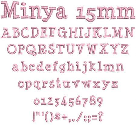 Minya 15mm Font