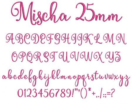 Mischa 25mm Font