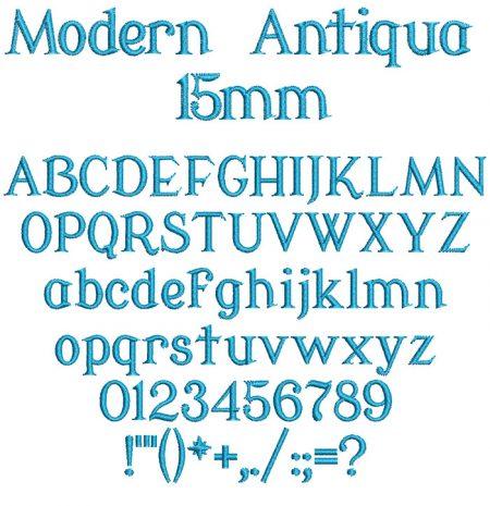 Modern Antiqua 15mm Font
