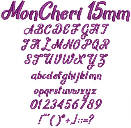 Mon Cheri 15mm Font