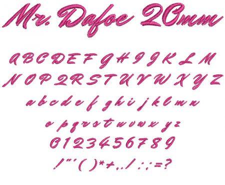 Mr. Dafoe 20mm Font