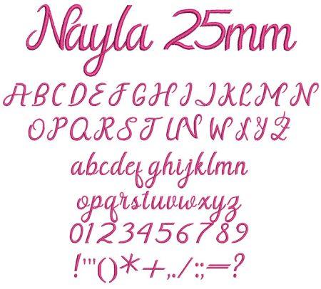 Nayla 25mm Font