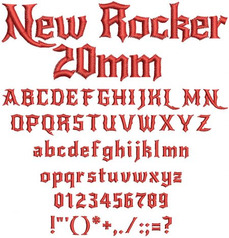 New Rocker 20mm Font