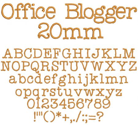 Office Blogger 20mm Font
