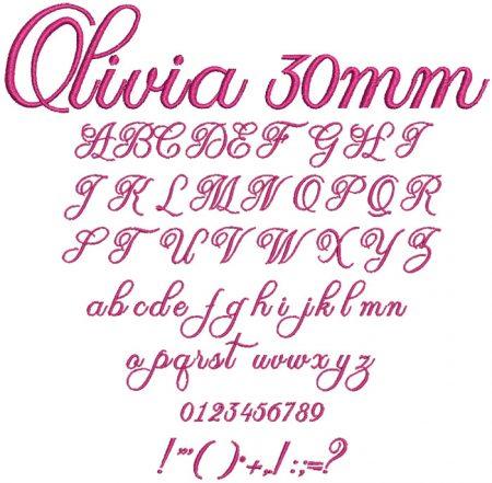 Olivia 30mm Font